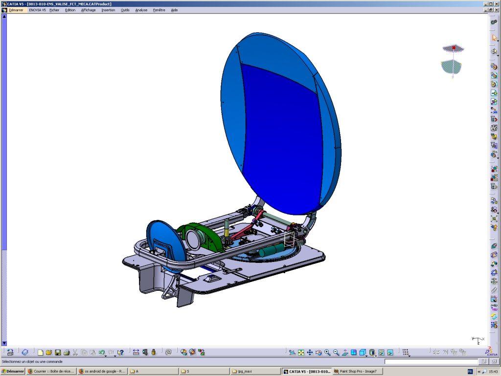 plateau tournant et parabole composite
